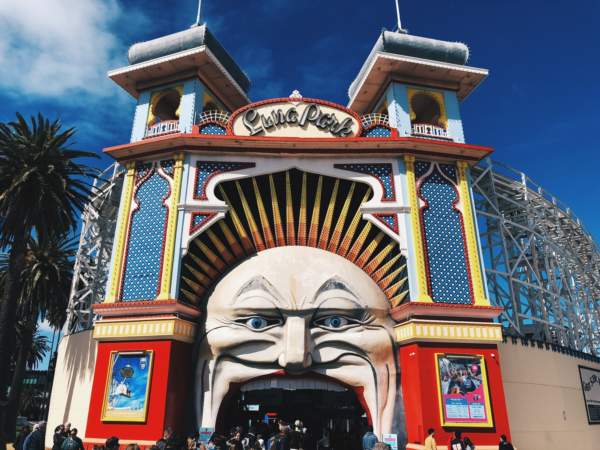 Walking around St Kilda and stumbled upon Luna Park.