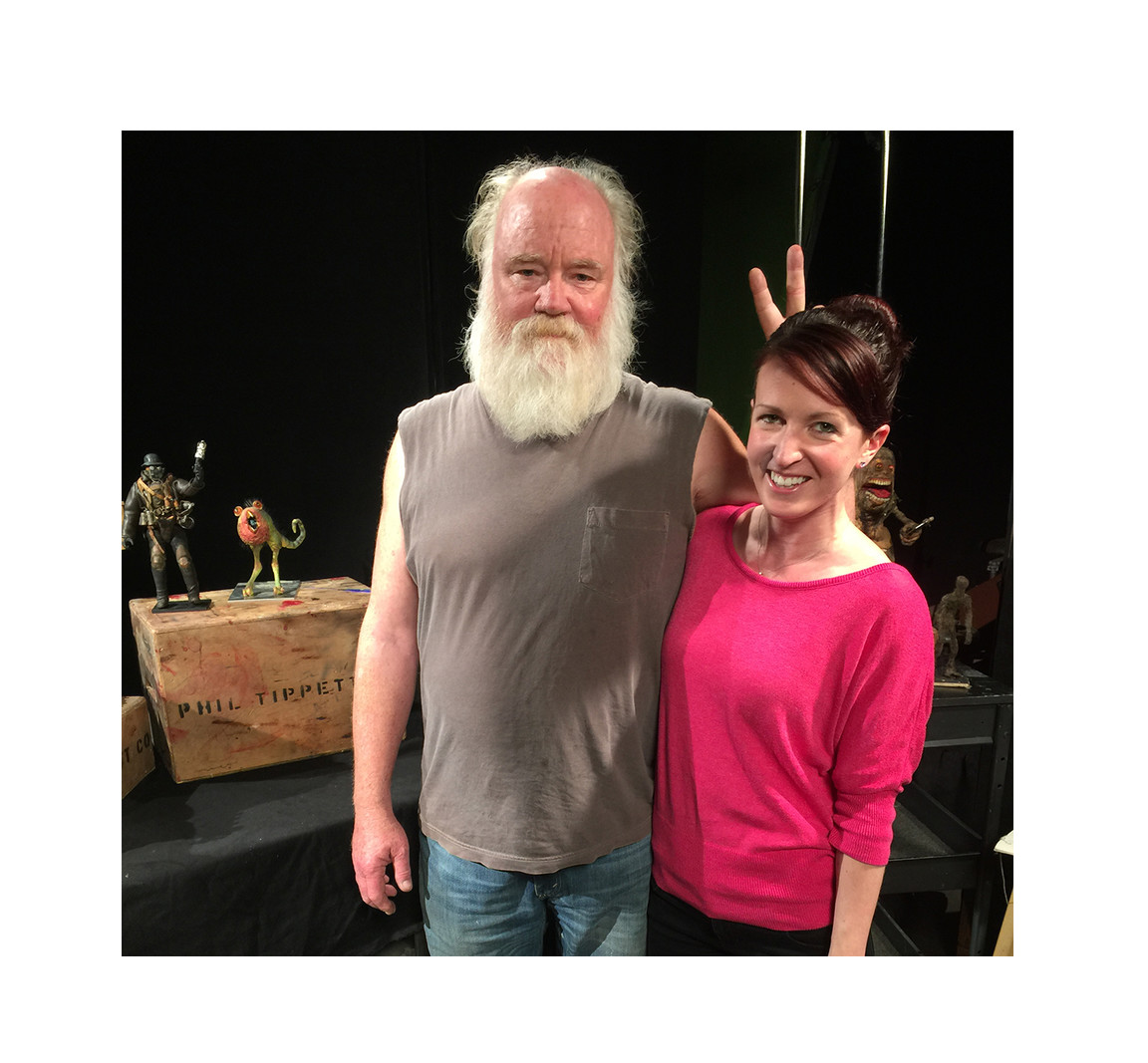 With Phil Tippett